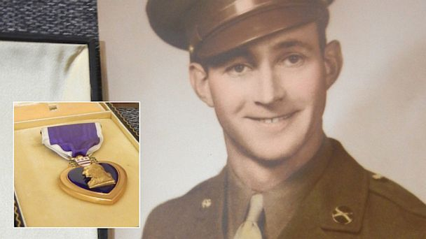 ap roland purple heart split kb 130813 16x9 608 Purple Heart Found at Goodwill Returned to WWII Vets Family