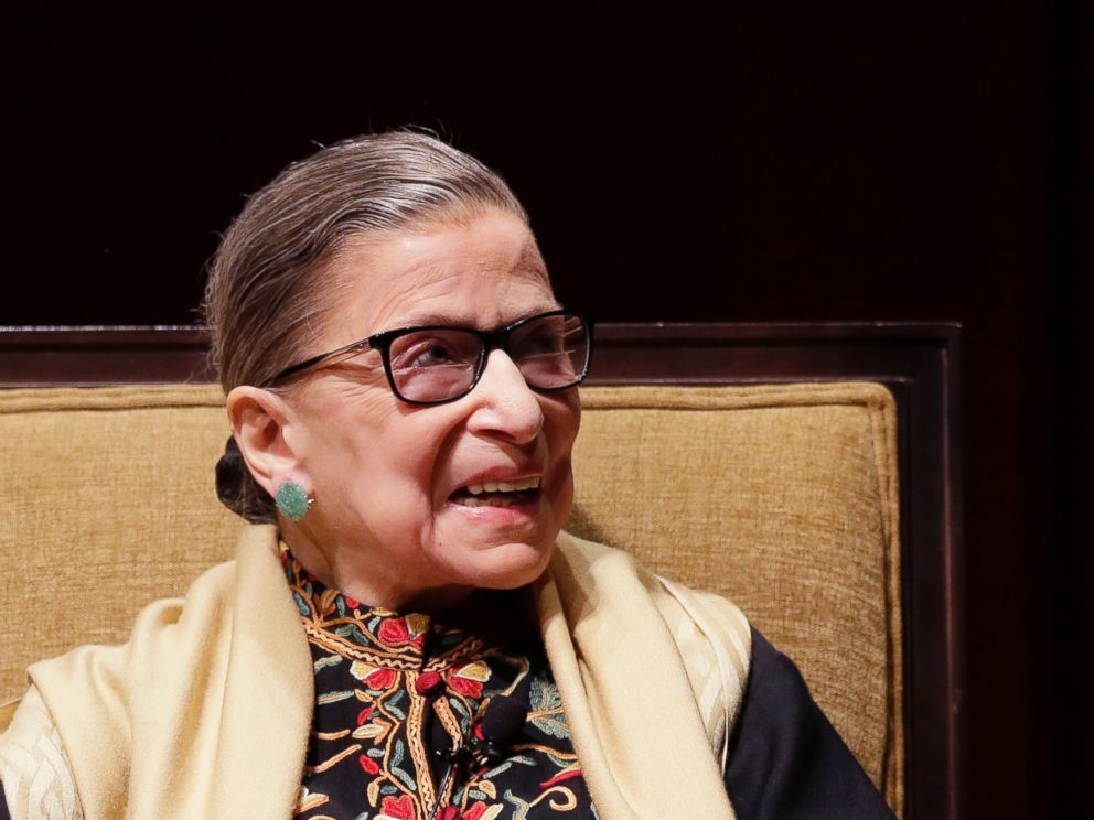 PHOTO: Court Justice Ruth Bader Ginsburg is interviewed at the University of Michigan in Ann Arbor, Mich., Feb. 6, 2015.