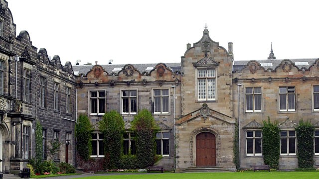 PHOTO: A section of the campus at St. Andrews University in Scotland is shown.