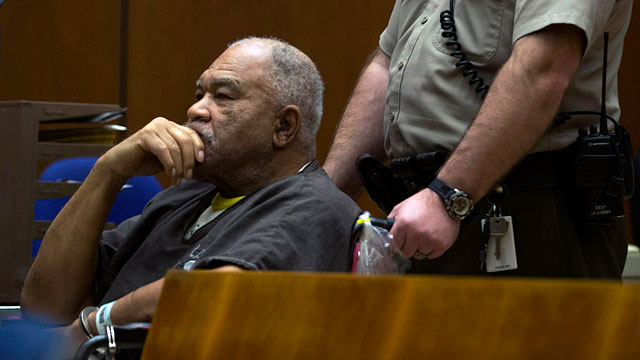 PHOTO: Samuel Little appears in a courtroom for his arraignment in Los