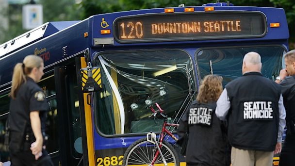 ap seattle bus shooting ll 130812 16x9 608 Rush Hour Gunman Cut Down By Seattle Police