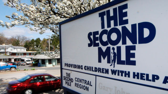 PHOTO: The sign outside the State College, Pa. office of The Second Mile, March 26, 2012. The charity for troubled youths was started by Jerry Sandusky more than three decades ago.