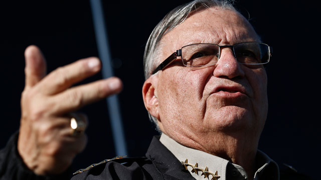 PHOTO: Maricopa County Sheriff Joe Arpaio speaks with the media in Phoenix on Jan. 9, 2013.