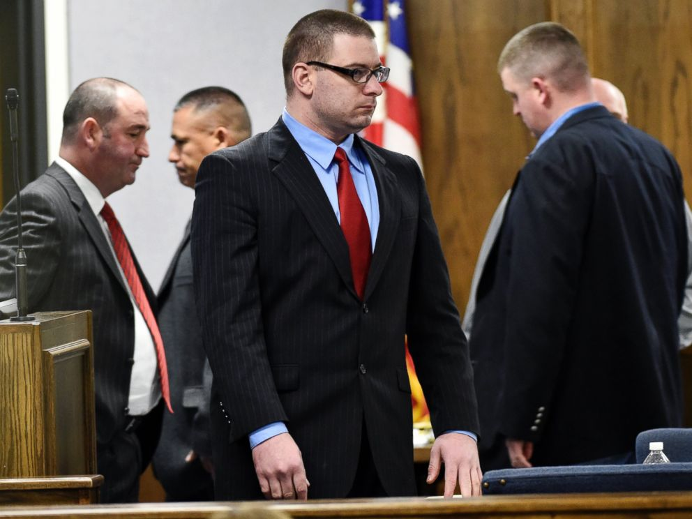 PHOTO: Former Marine Cpl. Eddie Ray Routh stands during his capital murder trial in Stephenville, Texas on Feb. 24, 2015.