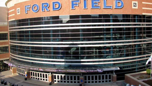 PHOTO: The exterior of Ford Field in Detroit is shown, Nov. 10, 2011, the day before the start of The Call, a 24-hour Christian prayer gathering.