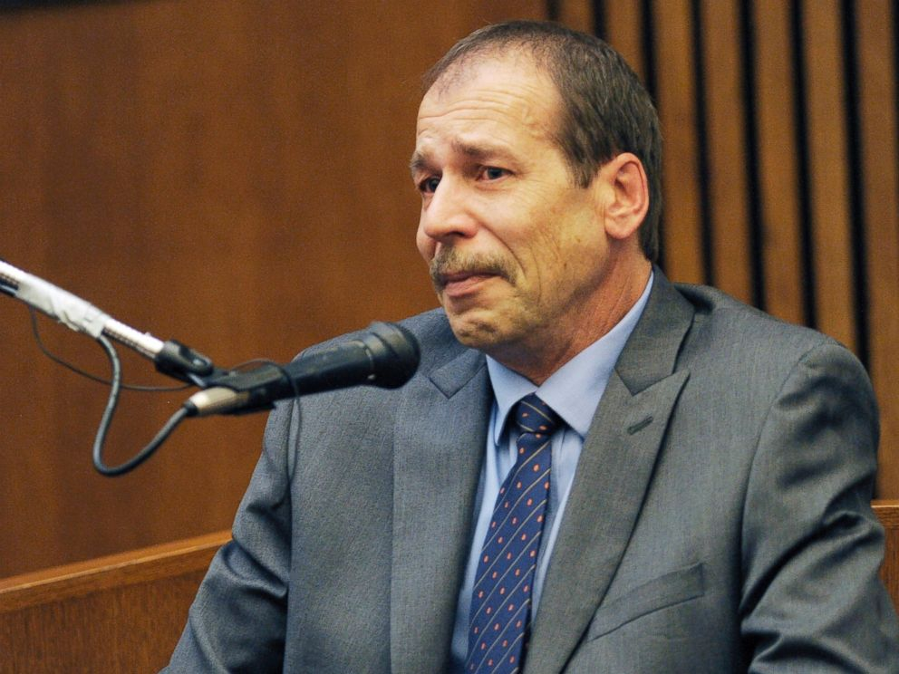 PHOTO: Theodore Wafer testifies in his own defense during the seventh day of testimony for the Nov. 2, 2013, killing of Renisha McBride, Aug. 4, 2014, in Detroit.