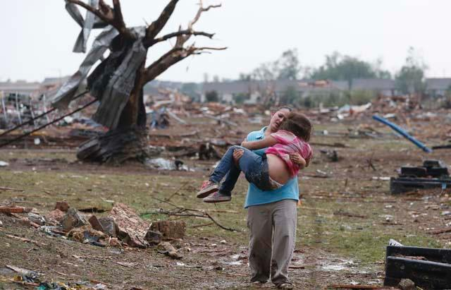 Oklahoma Tornado Levels Towns