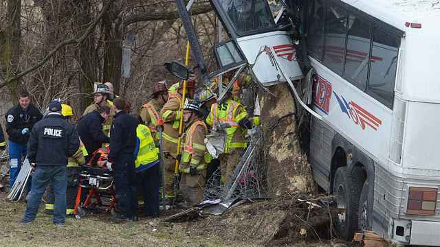 PHOTO: Emergency and rescue crews respond to the