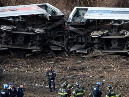 First Images of Deadly NYC Train Derailment
