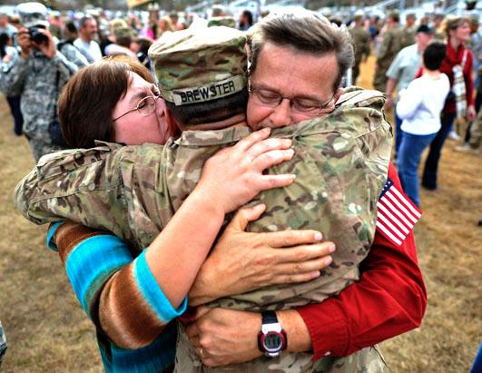 Military Families Greet Loved Ones