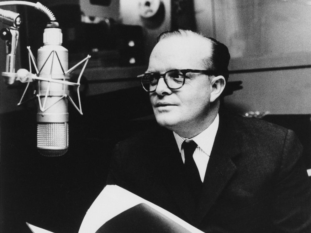 PHOTO: This 1966 file photo shows author Truman Capote in a studio recording the narration for his film adaptation of his short story, A Christmas Memory, in New York.