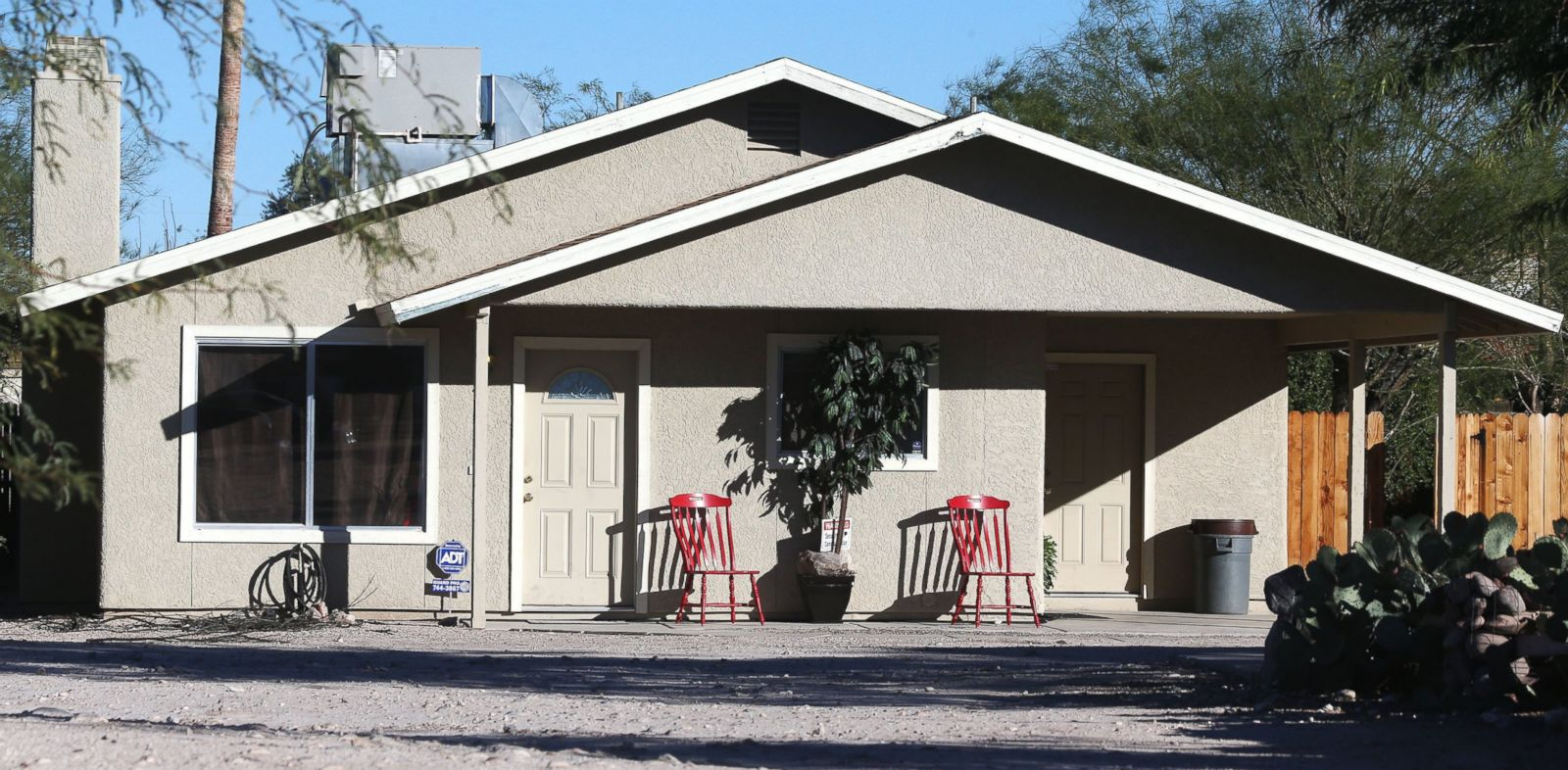 PHOTO: This Nov. 26, 2013 photo shows the home where three girls were allegedly imprisoned by their mother and stepfather, in Tucson, Ariz.