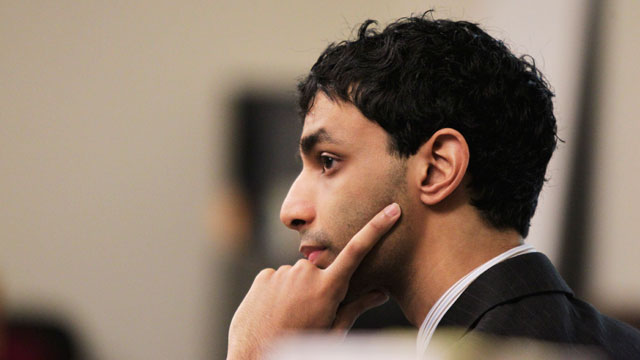 PHOTO: Dharun Ravi listens to testimony during his trial at the Middlesex County Courthouse in New Brunswick, N.J., Feb. 28, 2012.