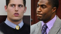 PHOTO: Brandon Vandenburg, right, is seen in court on Jan. 27, 2015. Cory Batey, left, testifies in this Jan. 26, 2015 file photo.