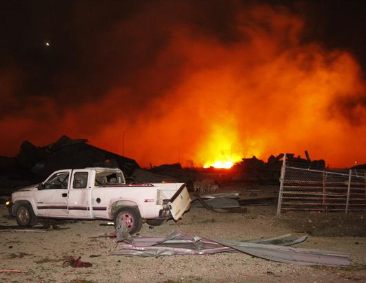 Explosion Rips Through Texas Fertilizer Plant
