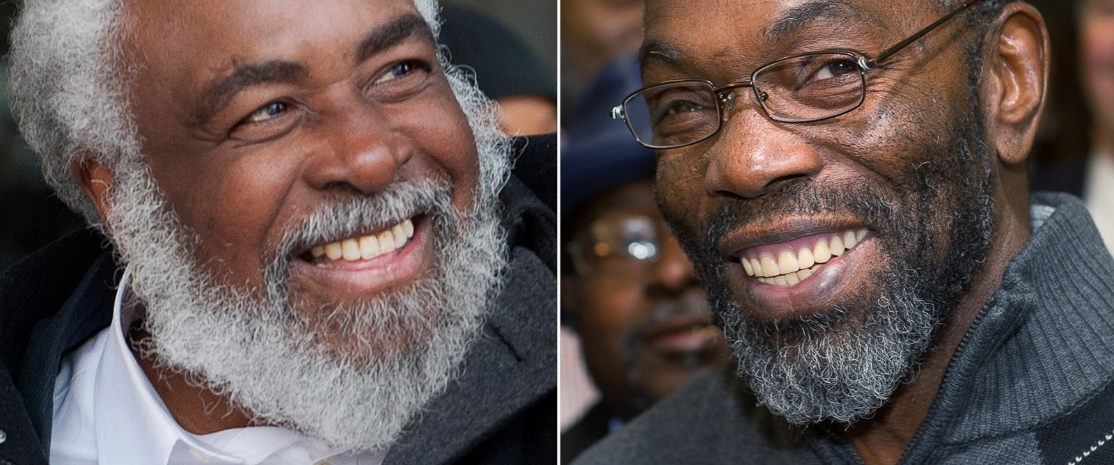 PHOTO: Wiley Bridgeman and Ricky Jackson are seen after being released from prison on Nov. 21, 2014.