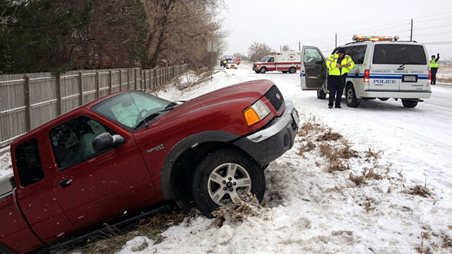 PHOTO: Auto accident in Colorado snow storm
