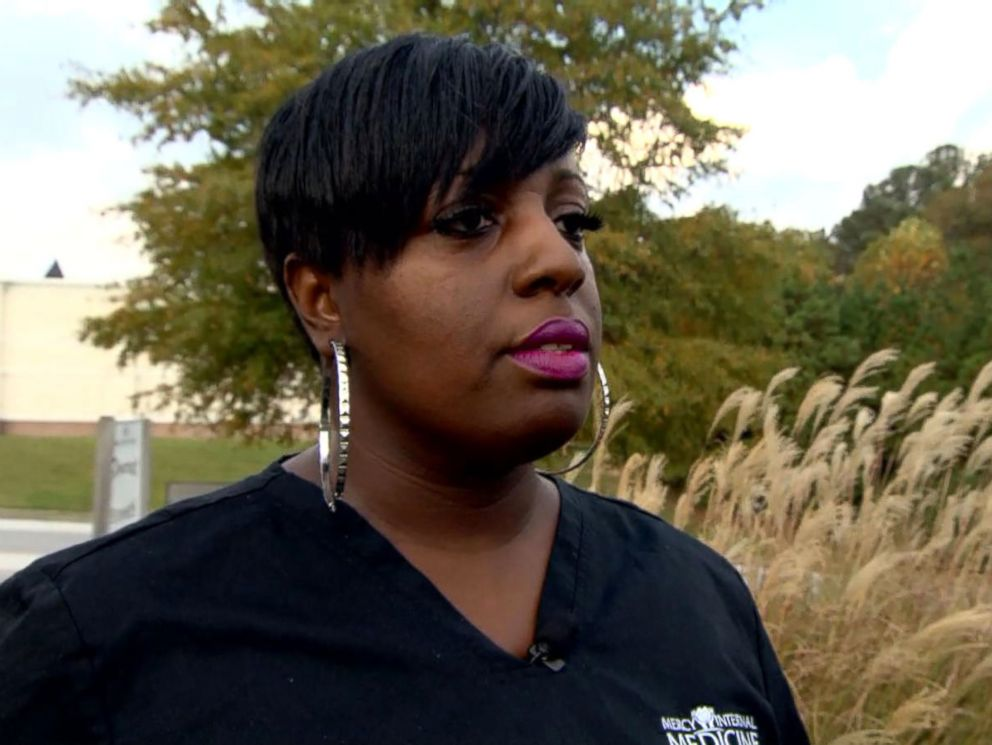 PHOTO: Georgia resident April Carr said that the teacher who allegedly threatened her son at the Rockdale Career Academy in Conyers should no longer be in the classroom.