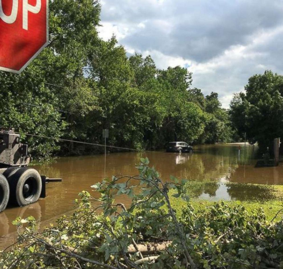 PHOTO: The Harding familys home was flooded by Hurricane Harvey in August.