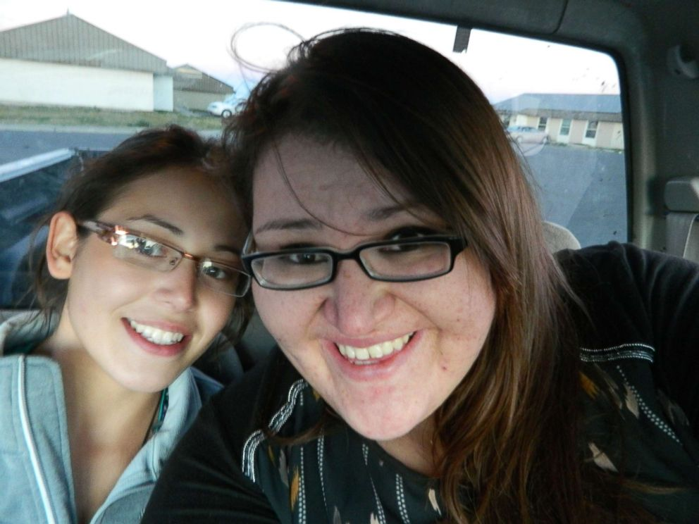 PHOTO: Ashley Loring HeavyRunner is pictured with her sister Kimberly. Ashley went missing from the Blackfeet Reservation in Montana in June 2017.