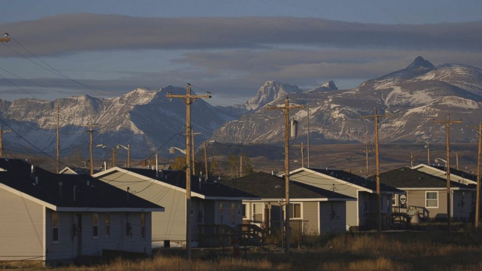 PHOTO: Housing on the Blackfeet Reservation in northwestern Montana.