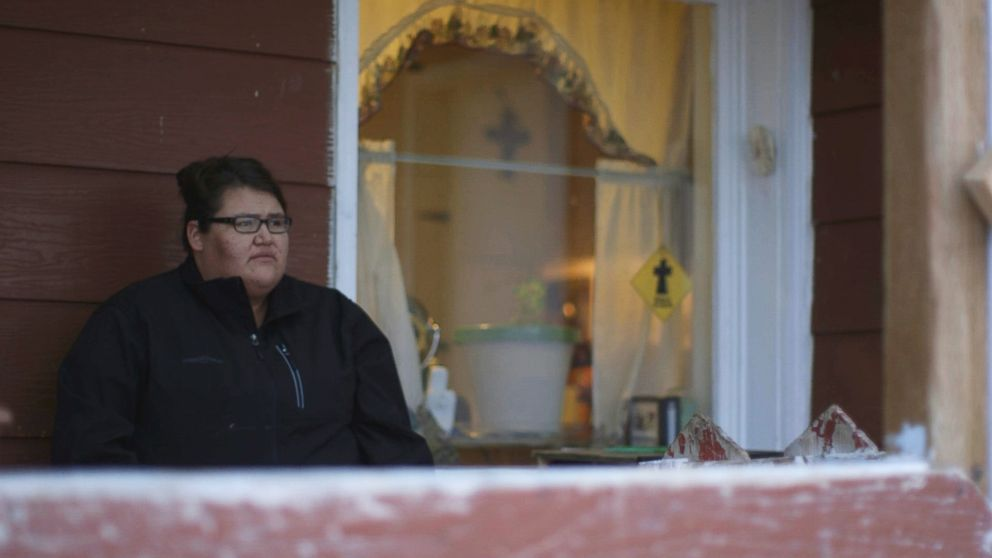 PHOTO: Kimberly Loring sits on the porch of her grandmothers ranch.