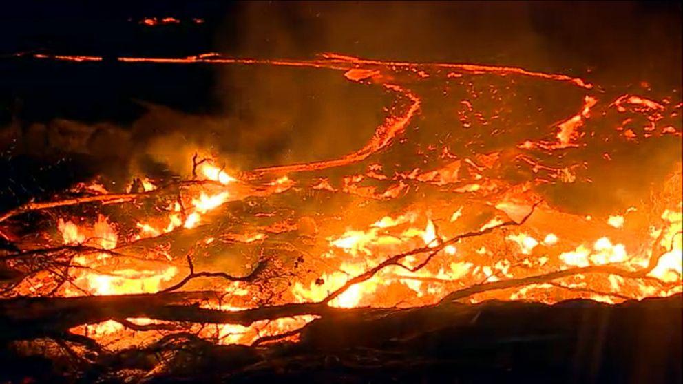 Ventura County Fire Live >> Dramatic Hawaii Lava Flow Threatens Homes Video - ABC News