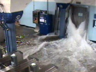 Watch: Sandy Floods NYC Subway System