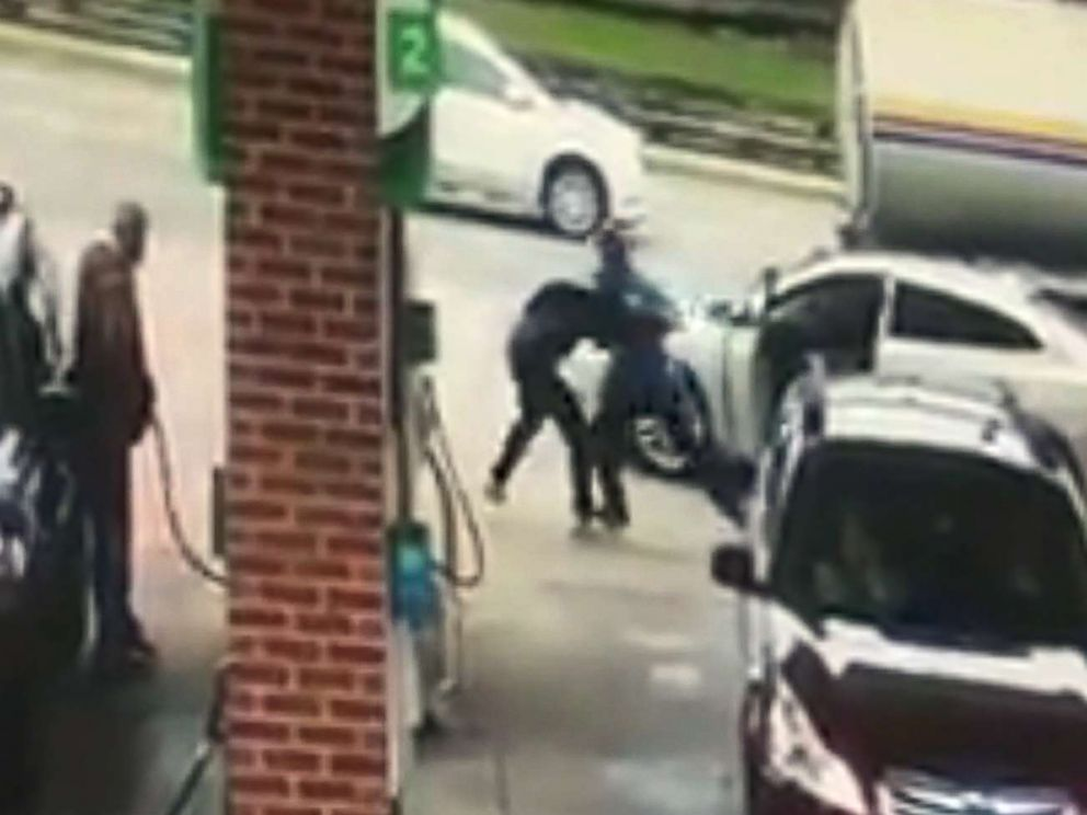 Brazen attempted carjacking at gas station caught on surveillance camera