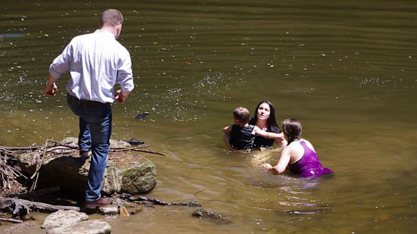 becki water rescue 4 16x9 608 Engagement Photo Shoot Turns Into Life Saving Rescue