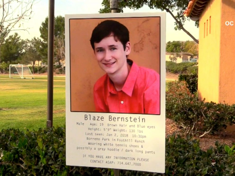 Missing Calif. student Blaze Bernstein found dead, case investigated as homicide