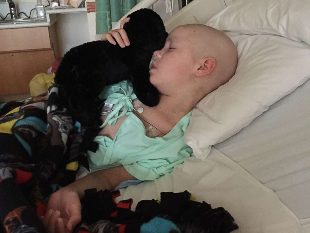 PHOTO: A.J. is photographed here as he receives treatment for leukemia in this family photo.