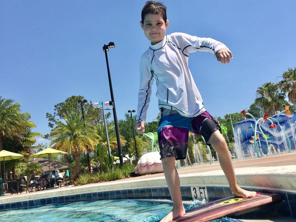 PHOTO: A.J. enjoying time outside during this past summer, after becoming cancer free thanks to a bone marrow donation.