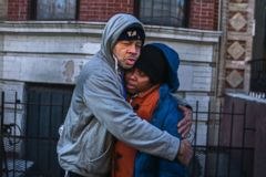 'PHOTO: Emelia Ascheampong, right, a resident of the building where1_b@b_1least 12 people died in a fire, is embraced by a friend, Dec. 29, 2017, in the Bronx borough of New York. Ascheampong, her husband and four children, survived by using a fire escape.' from the web at 'http://a.abcnews.com/images/US/bronx-fire-survivor-hug-ap-ps-171229_3x2_240.jpg'