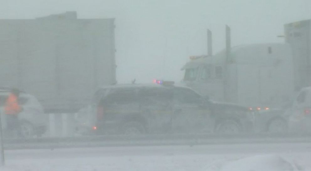 One dead following Thruway pileup crash near Buffalo