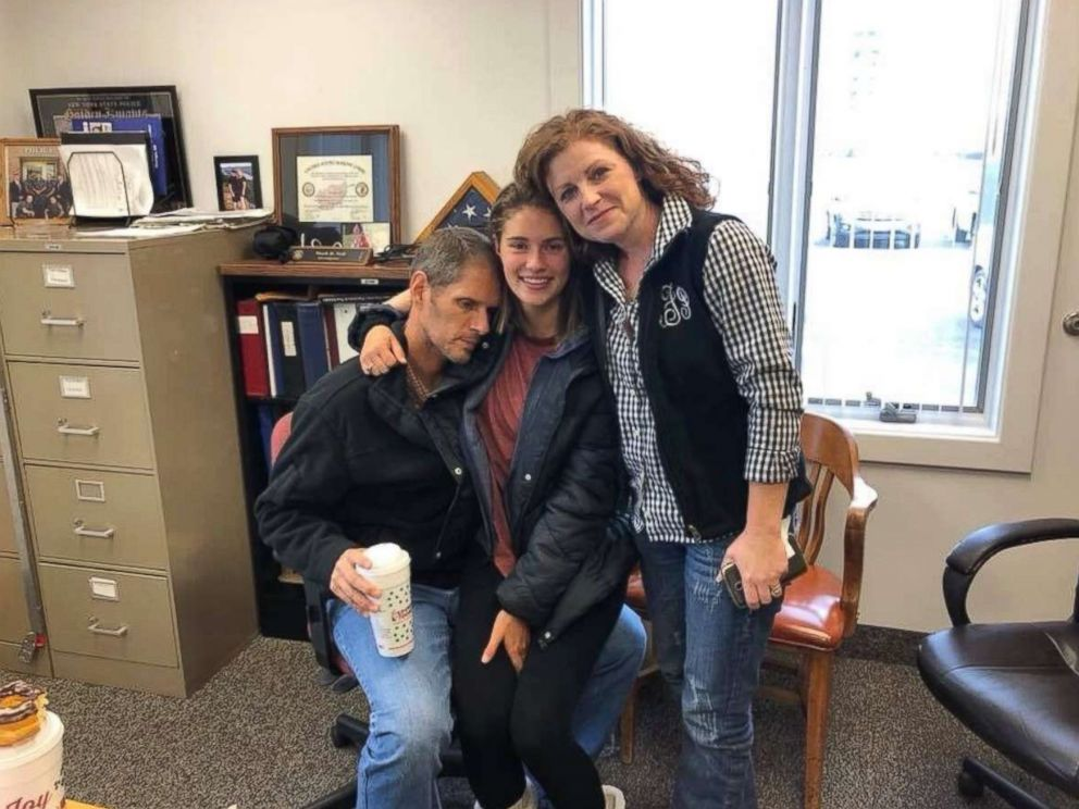 PHOTO: Caitlyn Frisina is pictured reunited with her parents in Syracuse, N.Y., Dec. 2, 2017.