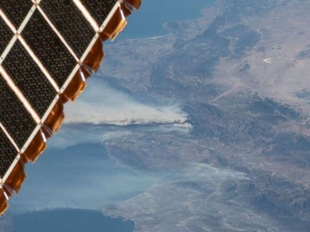 Striking images show California wildfires from space