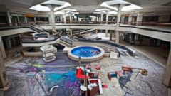 PHOTO: An overview shows the middle of Randall Park Mall.
