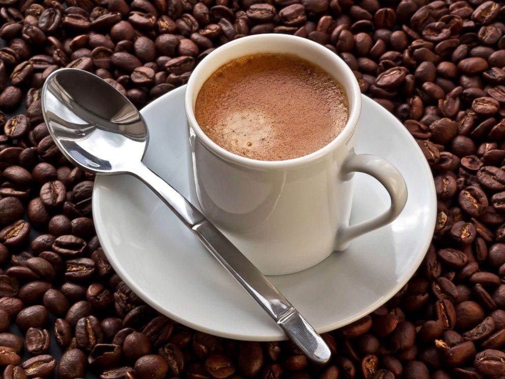 PHOTO: A cup of coffee is pictured on coffee beans in this undated stock photo.