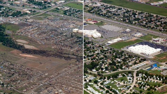Okla. Tornado: Before And After