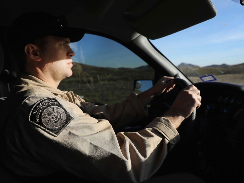 PHOTO: A Customs and Border Protection (CBP) agent drives along Interstate 10, on Nov. 22, 2017, in Van Horn, Texas.