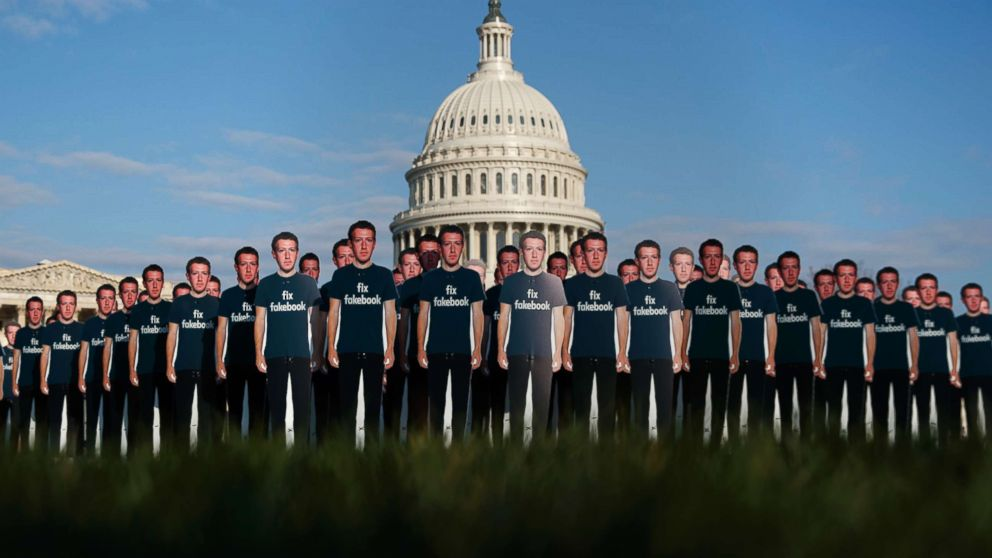 Army of life-size Mark Zuckerberg cardboard cutouts storms Capitol lawn