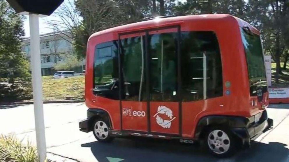 An EasyMile Shuttle, ABC7 News