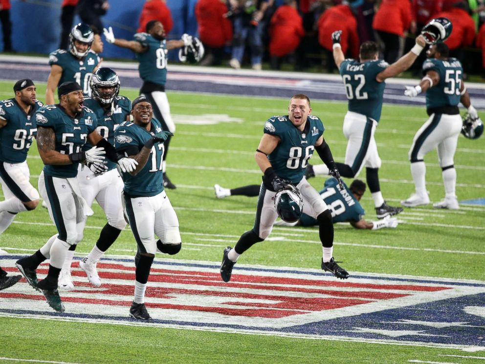 Eagles fans celebrate Super Bowl LII victory