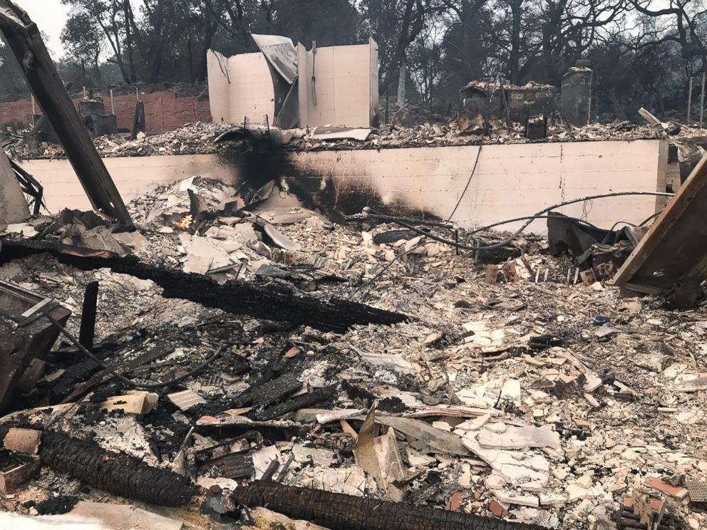 PHOTO: Carlos Funez and his family lost their Santa Rosa home from the northern California wildfires.