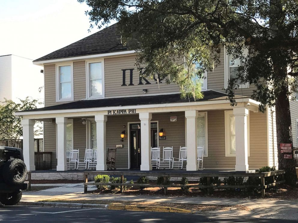 PHOTO: The Pi Kappa Phi fraternity house is seen near Florida State University in Tallahassee, Fla., Nov. 7, 2017.