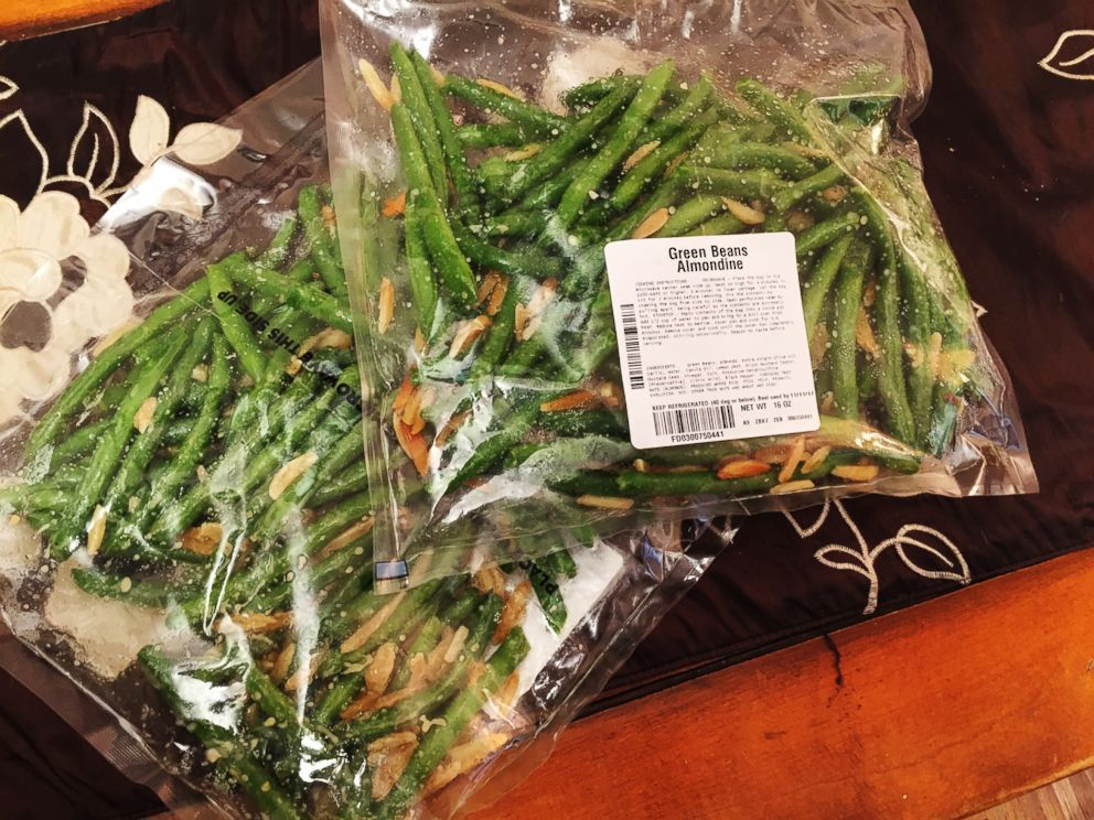 PHOTO: The Green Beans Almondine that are included in FreshDirects prepared Thanksgiving meal.