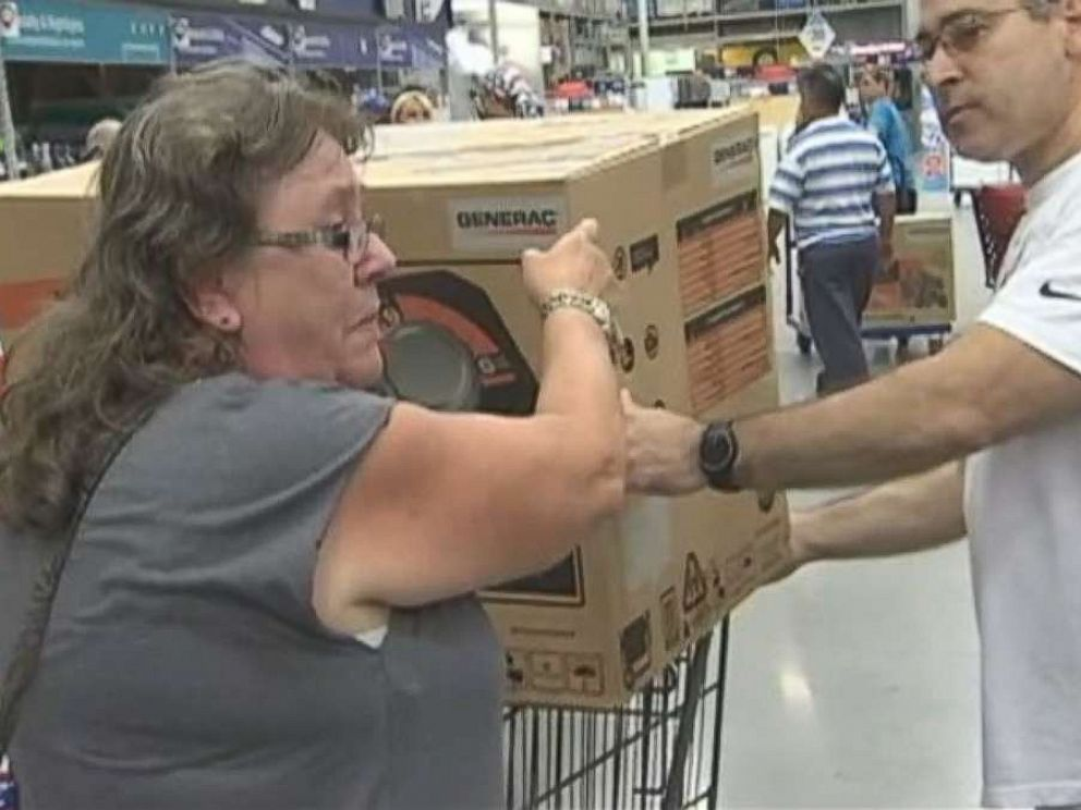Man gives last generator to crying Lowe's customer