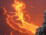 VIDEO: Activity at Hawaiis volcano creates a bubbling cauldron thats 160 yards wide.