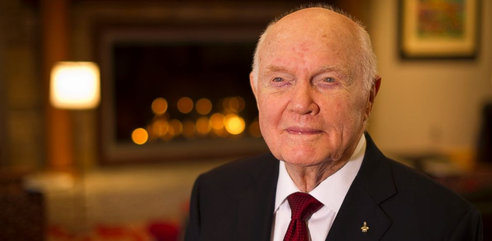 PHOTO: John Glenn posed for a portrait shortly after doing live television interviews on the 50th anniversary of his historic flight as the first American to orbit Earth, Feb, 20, 2012, in Columbus, Ohio.